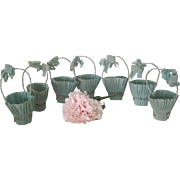 Vintage 1940's Crepe Paper Easter/Birthday/Wedding Party Candy Container Baskets Set of Seven
