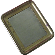 Antique Brass Miniature Dollhouse Mirror