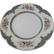 Old Victorian English Johnson Brothers set of 6 Porcelain Dessert Plates in the Belgravia Pattern
