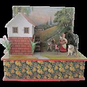 Antique German Swiss Music Box Automaton Doll Accessory Toy c1900