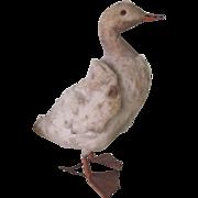 Antique German Spun Cotton Easter Duck Toy Ornament