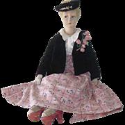 Vintage Lenci Italian Boudoir Cloth Doll