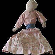Antique 19thc  Cloth Doll Handmade Primitive Folk Art