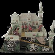 Vintage German Gottschalk Toy Castle Dollhouse c1920