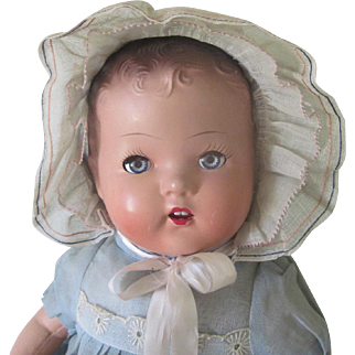 Vintage Composition Baby Doll c1940
