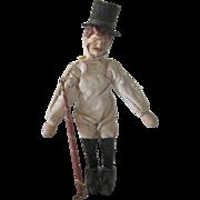 Antique Schoenhut Circus Wooden Ringmaster Doll