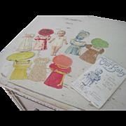 "Antique ""Our Baby"" Hagelberg Berlin Paper Doll Set c1890"