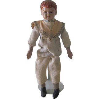 Antique Composition Boy Doll with Squeaker