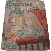 Old Victorian Children's Christmas Storybook with Doll on Cover c1890