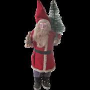 Vintage Large Japanese Papier Mache Santa Claus Christmas Doll Decoration c1940