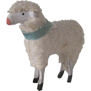 Vintage German Miniature Wooden Sheep Lamb Doll Accessory Christmas Ornament c1900