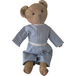 Antique Primative Teddy Bear Doll c1900