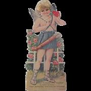 Large Vintage 1930's Cupid German Valentine Card