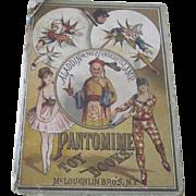 Antique Victorian McLoughlin Bros. Children's Book Aladdin or the Wonderful Lamp c1880 Doll Accessory