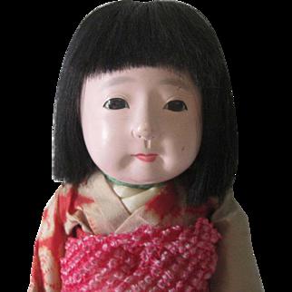 Old Vintage Japanese Ichimatsu Gofun Doll c1940