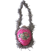 Antique Victorian German Glass Wire Wrapped Easter Egg Christmas Ornament Decoration