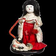 Wonderful Japanese Kimekomi Gosho Doll with Dog