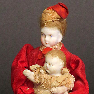 Fantastic Rare 5 inch Nurse Maid and Baby