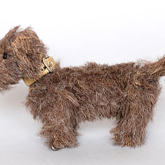 Tiny Pose-able Scruffy Terrier Dog