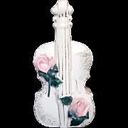 Rare and Lovely Rose Violin Bottle Vase