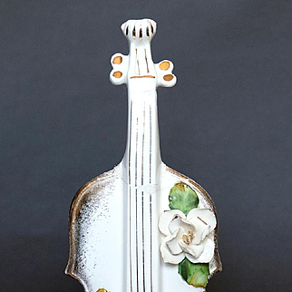 Rare and Lovely Magnolia Violin Bottle Vase