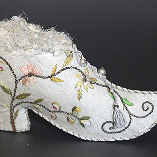 Fabulous Embroidered Shoe for Display