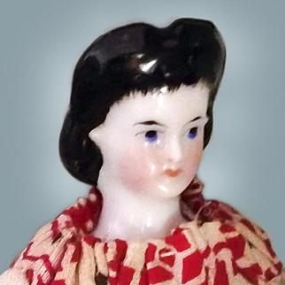 Unusual Hair 4.5 inch Tiny China Doll