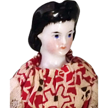 Unusual Hair 4.5 inch Tiny China Doll - Red Tag Sale Item