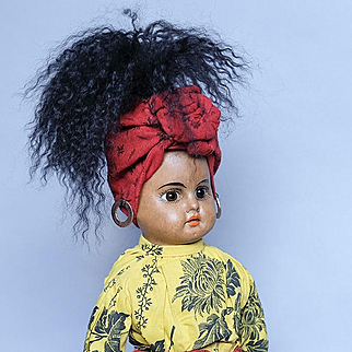 Wonderful 12 inch Mocha Bisque Doll