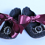 Great 3.75 inch Suede Shoes for Antique Doll