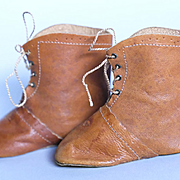 Large 3.75 inch Leather Doll Boots