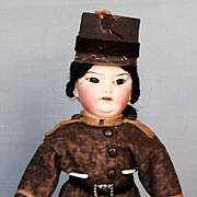 All-Original Asian Boy in Military Outfit by Schoenau and Hoomeister circa 1910