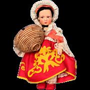 Lenci Doll with Original Box in Dress representing Sicilian Region