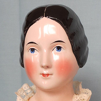 Antique China Lady with Braided Bun circa 1840th