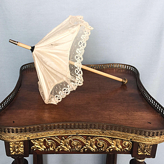 Antique French Fashion Doll or Bebe Silk Parasol