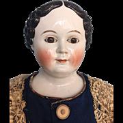 Antique German Greiner Glass  Eye China Doll by Kloster Veilsdorf