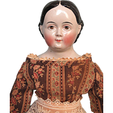 Antique Greiner China Head Doll by Kloster Veilsdorf Porcelain Factory c1850