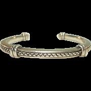 Scott Kay 925 Silver Basket Weave Cuff Bracelet