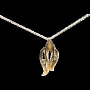 14k Gold & Diamonds Pendant