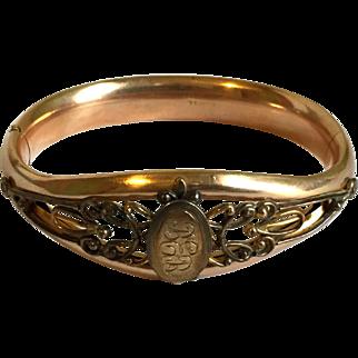 Antique Bates & Bacon Victorian Gold Filled Bracelet