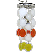1970's Italian Vistosi Disc Chandelier