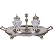 19th C English Sterling Silver Inkwell