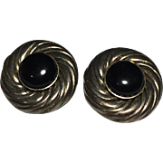 Pair of Vintage Une Ligne French Clip On Earrings
