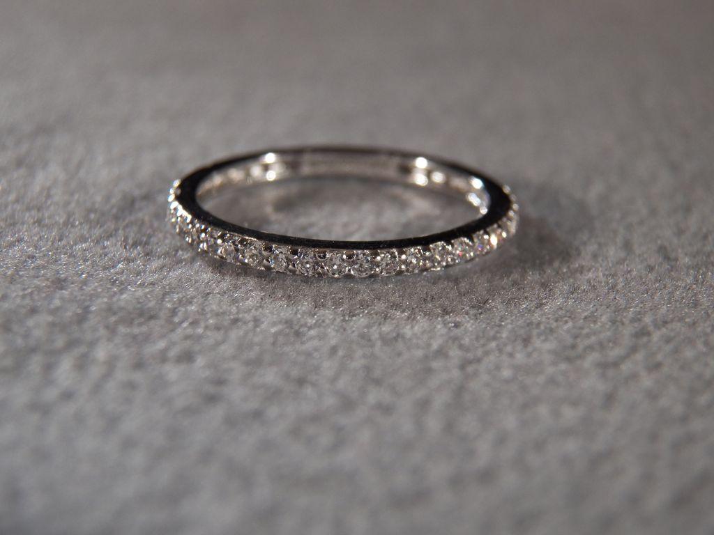 silver multi round cubic zirconia fancy eternity wedding band ring 7