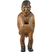 19th Century Swiss Figural Wood Standing Nutcracker