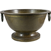 19th Century India Cast Bronze Footed Bowl