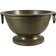 19th Century Cast Bronze Pedestal Bowl India