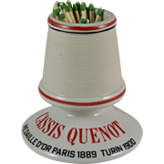 """French Pyrogene Advertising Match Striker """"Cassis Quenot"""" Table Vesta"""