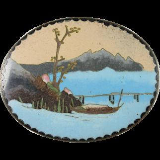 19th Century Japanese Cloisonne Fine Wire Enamel Box
