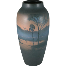Rookwood Scenic Vellum Vase Fred Rothenbusch